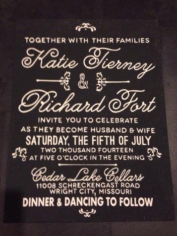 Wedding Invite on CanvasW/Silhouette