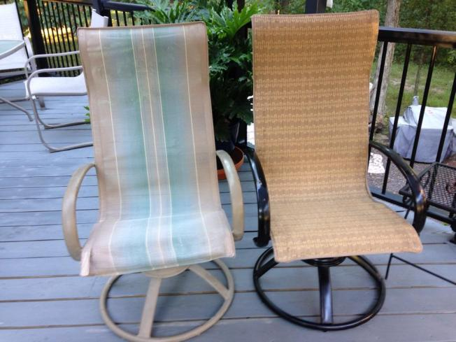 Making and Installing new slings for Homecrest Style Patio Chairs